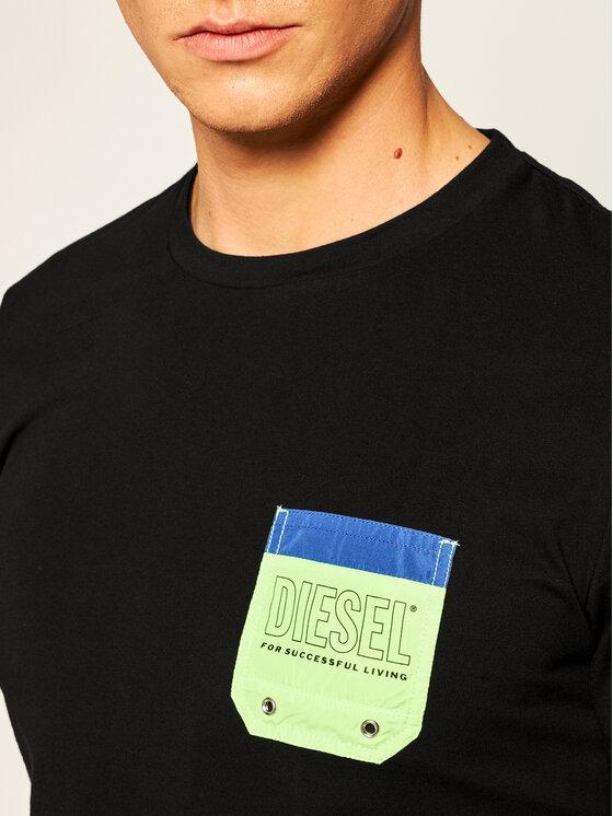 Diesel Diesel T-Shirt Bm0wt-Diego 00SY99 0DBAI Czarny Regular Fit
