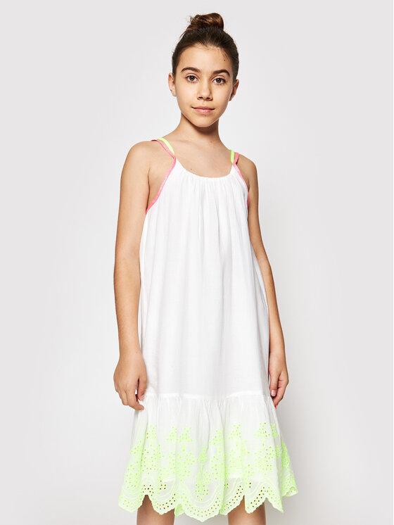 Billieblush Kasdieninė suknelė U12654 Balta Regular Fit