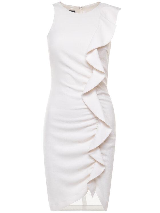 Pinko Pinko Φόρεμα κοκτέιλ Bebyblade PE 20 PBK2 1B14HK 8070 Λευκό Regular Fit