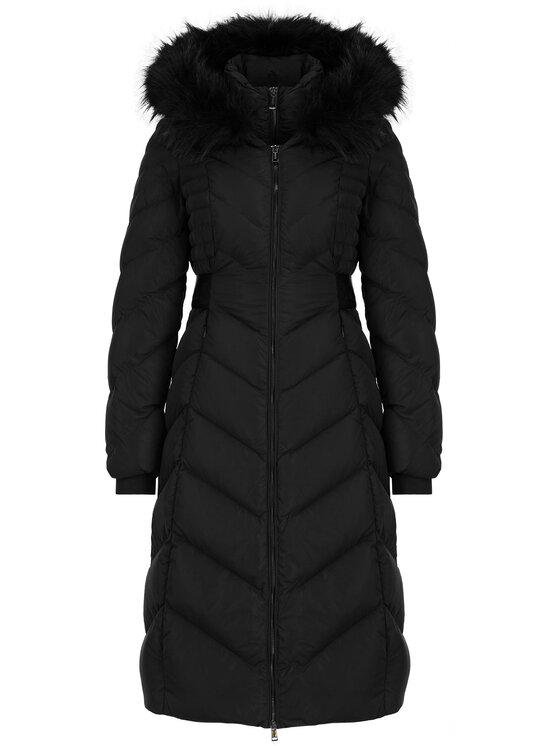 Guess Guess Płaszcz zimowy W94L83 W94G0 Czarny Slim Fit