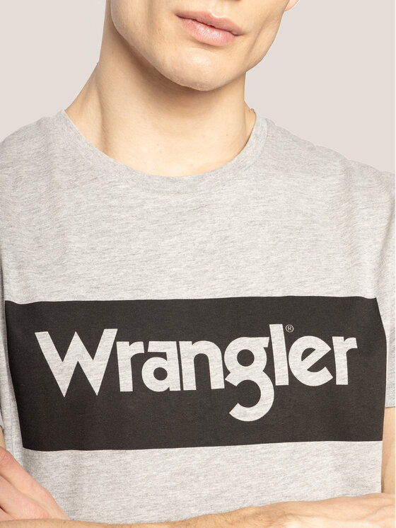 Wrangler Wrangler T-Shirt Logo Tee W742FKX37 Γκρι Regular Fit