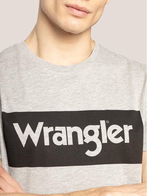 Wrangler Wrangler T-Shirt Logo Tee W742FKX37 Grau Regular Fit