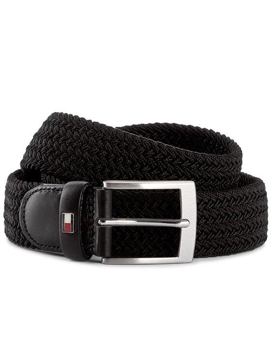 Tommy Hilfiger Tommy Hilfiger Ζώνη Ανδρική Adan Belt Giftbox 3.5 AM0AM02835 Μαύρο
