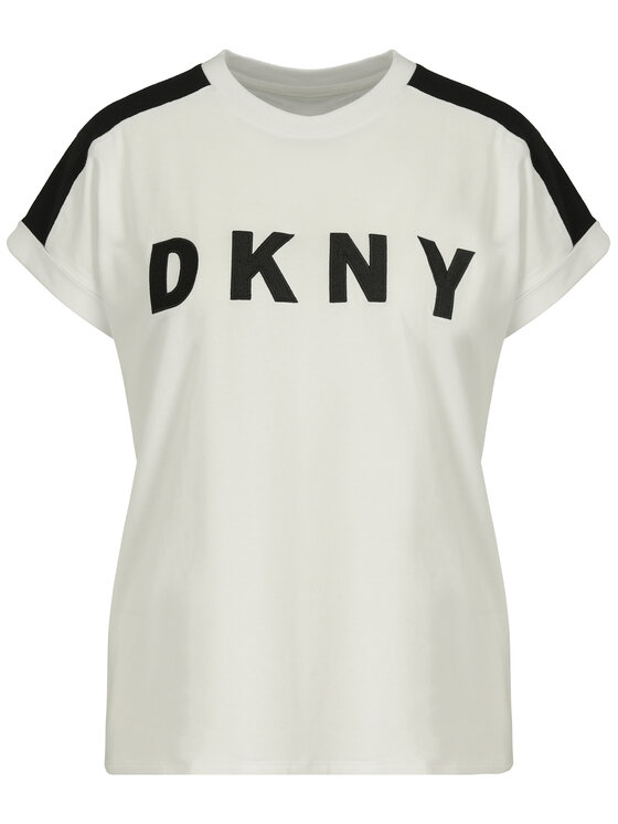 DKNY Sport DKNY Sport T-Shirt DP9T6629 Biały Relaxed Fit