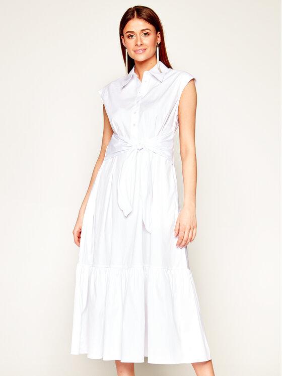 Marella Sukienka koszulowa Orosei 32210105 Biały Regular Fit