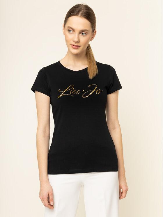 Liu Jo Liu Jo T-Shirt WA0427 J5703 Czarny Regular Fit