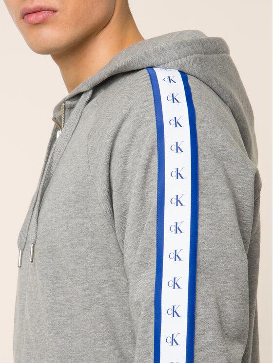 Calvin Klein Jeans Calvin Klein Jeans Bluza Monogram J30J313211 Szary Regular Fit