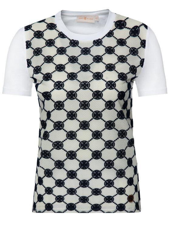 Tory Burch Tory Burch T-Shirt 57188 Biały Regular Fit