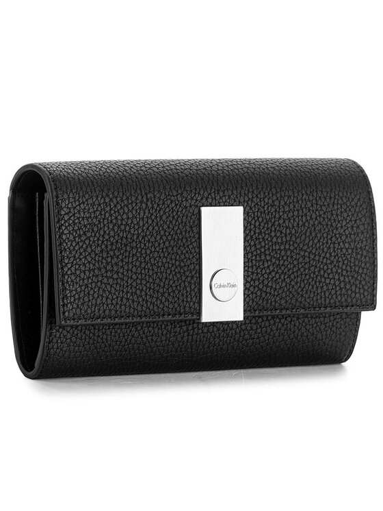 Calvin Klein Calvin Klein Nagy női pénztárca Carrie Large Trifold K60K603606 Fekete
