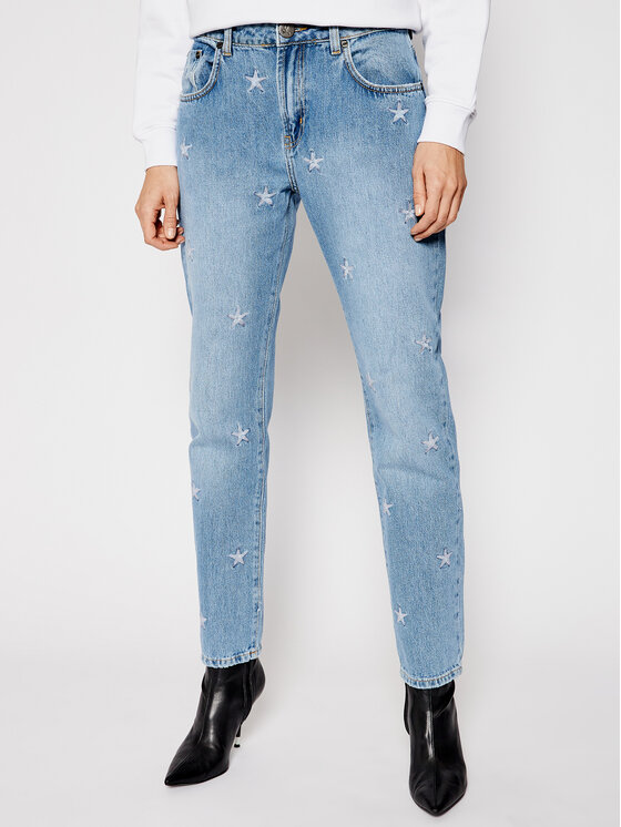 One Teaspoon Džinsai Pac Star Awe Bag 23631 Mėlyna Straight Leg