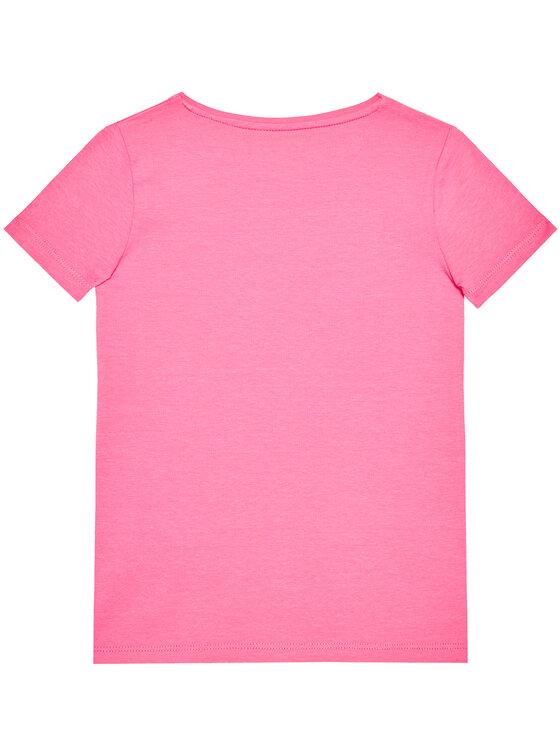 Guess Guess T-Shirt K1RI19 K6YW1 Różowy Regular Fit