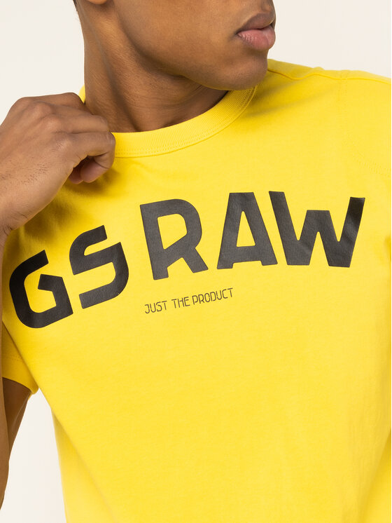 G-Star Raw G-Star Raw T-shirt Gsraw Gr D16388-4561-188 Giallo Regular Fit
