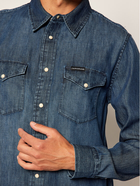 Calvin Klein Jeans Calvin Klein Jeans Chemise Western J30J314392 Bleu marine Regular Fit