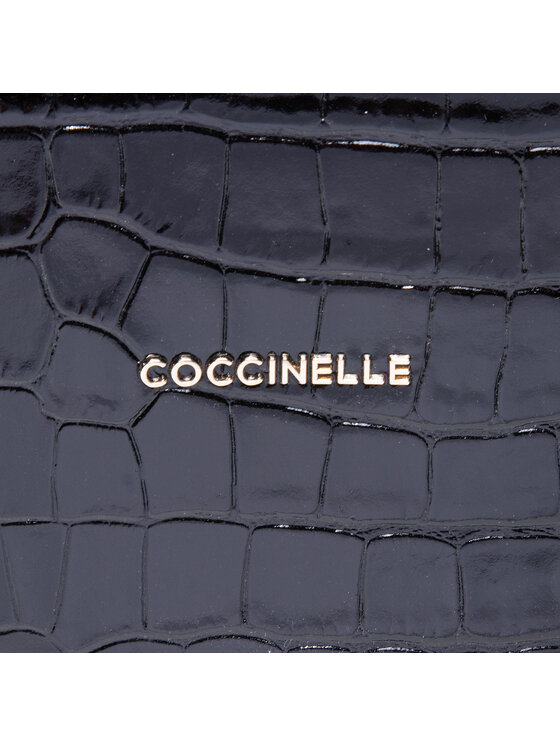 Coccinelle Coccinelle Torebka HHC Diana Croco Shiny Soft E1 HHC 18 04 01 Czarny