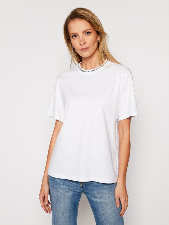 Victoria Victoria Beckham Marškinėliai Single 2121JTS002392A Balta Regular Fit