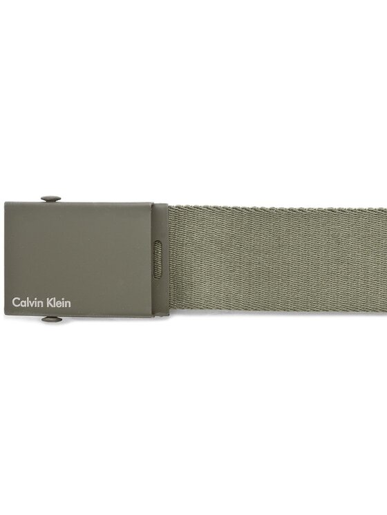 Calvin Klein Calvin Klein Мъжки колан Canvas Adj Plaque Belt K50K500972 80 Зелен