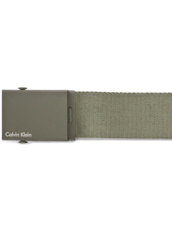 Calvin Klein Calvin Klein Vyriškas Diržas Canvas Adj Plaque Belt K50K500972 80 Žalia