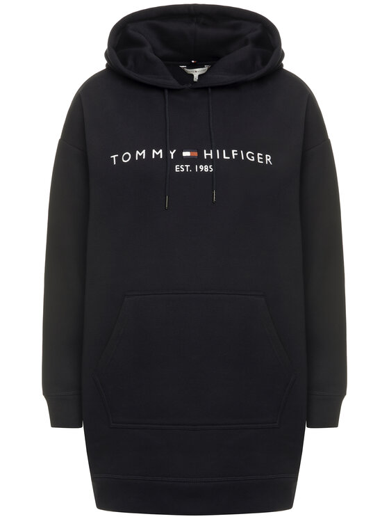 Tommy Hilfiger Sukienka dzianinowa Essential WW0WW27039 Granatowy Regular Fit