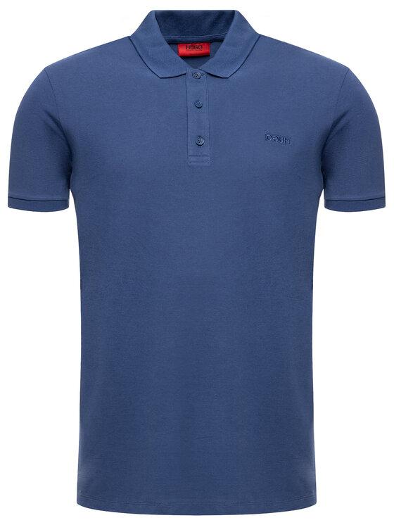 Hugo Hugo Тениска с яка и копчета 50409699 Тъмносин Regular Fit
