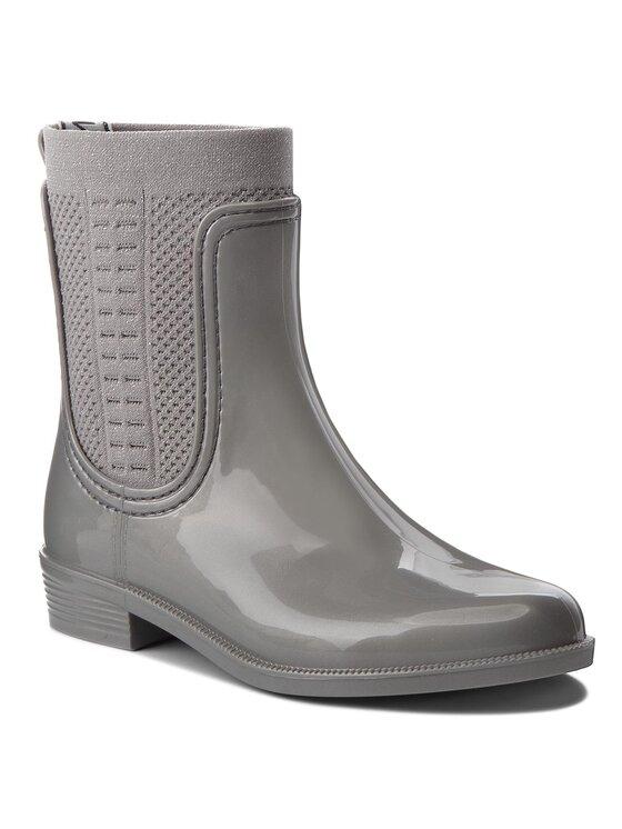 Tommy Hilfiger Tommy Hilfiger Kalosze Shiny Rain Boot FW0FW03403 Szary