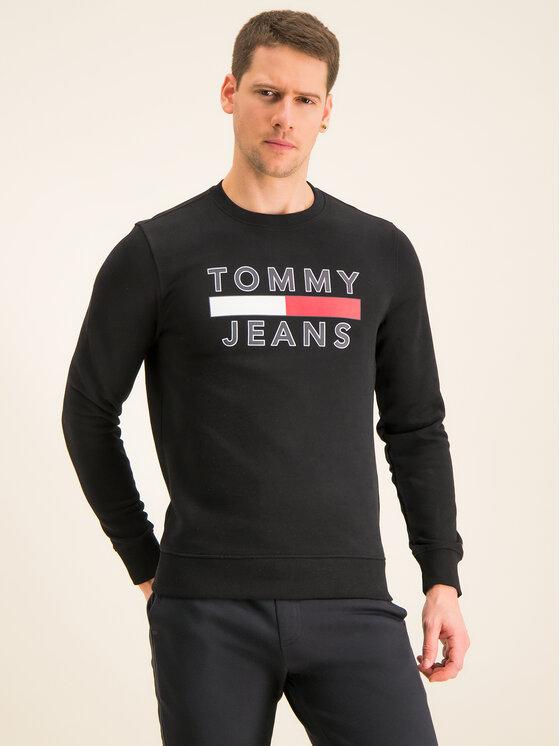 Tommy Jeans Tommy Jeans Bluza Tjm Essential Graphic Crew DM0DM07413 Czarny Regular Fit