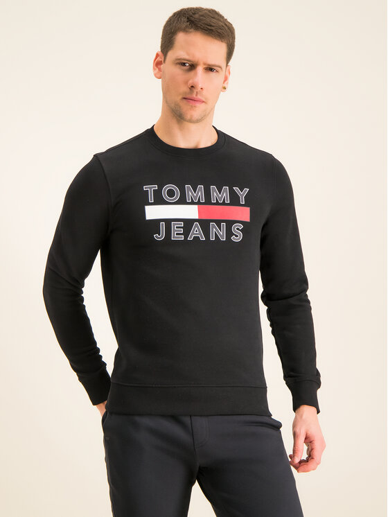 Tommy Jeans Tommy Jeans Sweatshirt Tjm Essential Graphic Crew DM0DM07413 Noir Regular Fit