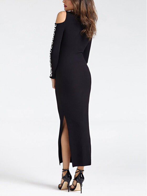 Guess Guess Ежедневна рокля W93K72 K8RT0 Черен Slim Fit