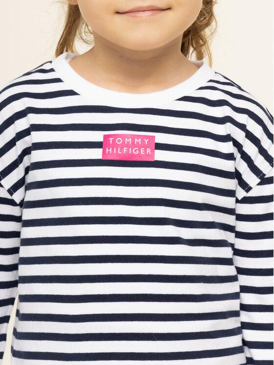 Tommy Hilfiger Tommy Hilfiger Bluză Nautical Stripe KG0KG04889 M Alb Regular Fit