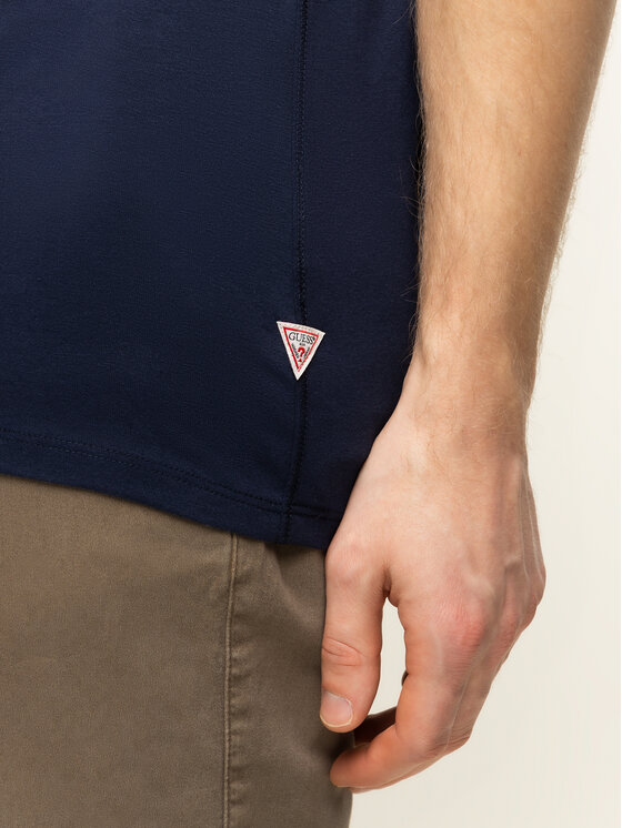 Guess Guess T-Shirt M01I77 J1300 Granatowy Regular Fit