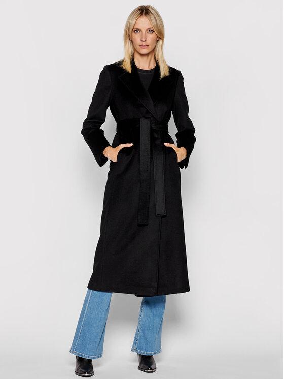MAX&Co. Demisezoninis paltas Longrun 40119521 Juoda Regular Fit
