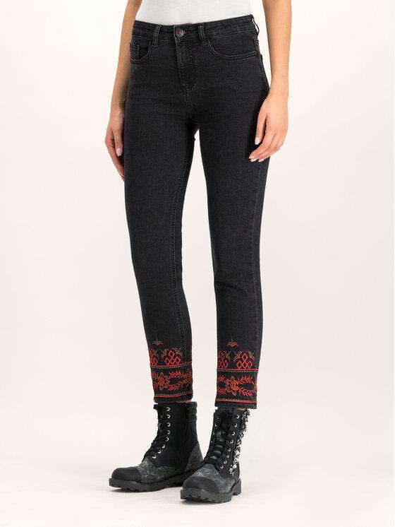 Desigual Desigual Skinny Fit džínsy Calipso 19WWDD33 Čierna Skinny Fit