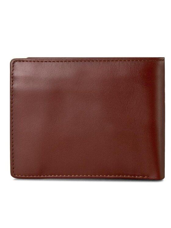 Tommy Hilfiger Tommy Hilfiger Голям мъжки портфейл Ho Formal Cc Flap And Coin Pocket AM0AM01285 Кафяв