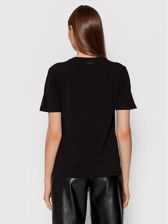 Liu Jo Liu Jo T-shirt CF1312 J5003 Crna Regular Fit