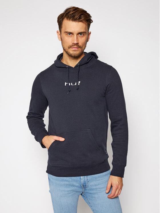 HUF Džemperis Peaking Hoodie PF00283 Tamsiai mėlyna Regular Fit