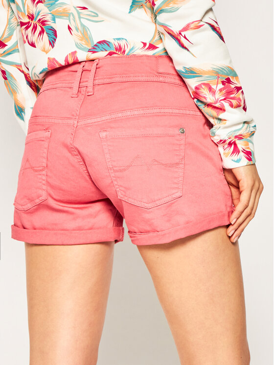 Pepe Jeans Pepe Jeans Τζιν σορτσάκια Siouxie PL800685 Ροζ Regular Fit