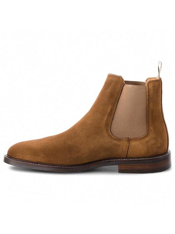 Gant Gant Kotníková obuv s elastickým prvkem Ricardo 16653494 Hnědá