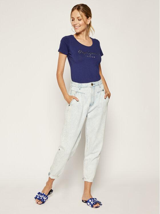 Pepe Jeans Pepe Jeans T-Shirt PL504034 Dunkelblau Regular Fit