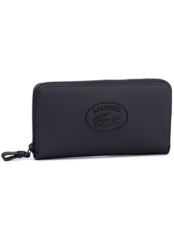 Lacoste Lacoste Duży Portfel Damski L Zip Wallet NF2423WM Czarny