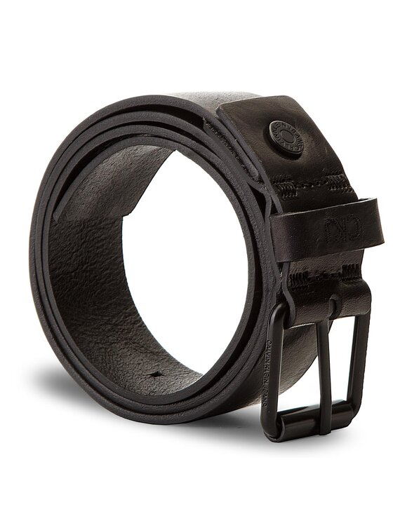 Calvin Klein Jeans Calvin Klein Jeans Cintura da uomo J Leather Belt 3.5 Cm K50K503840 85 Nero