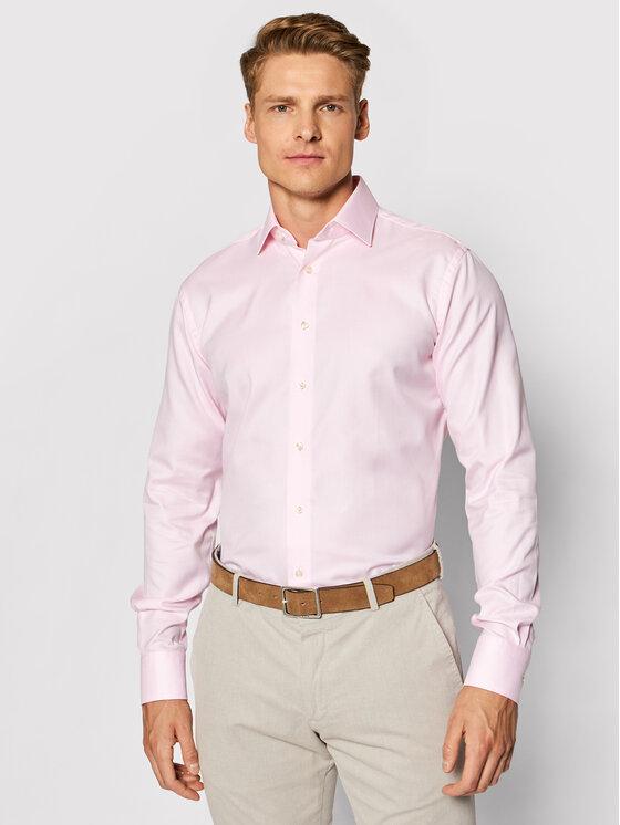 Emanuel Berg Marškiniai MCR37 Rožinė Modern Fit