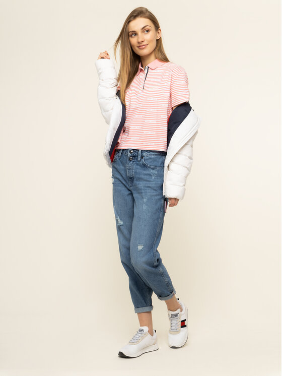 Tommy Jeans Tommy Jeans Polo Stripe DW0DW07643 Rosa Oversize