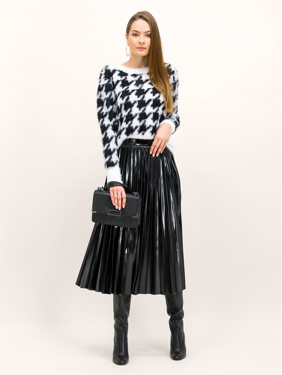 Guess Guess Pulover W94R0B Z2IP0 Alb Regular Fit