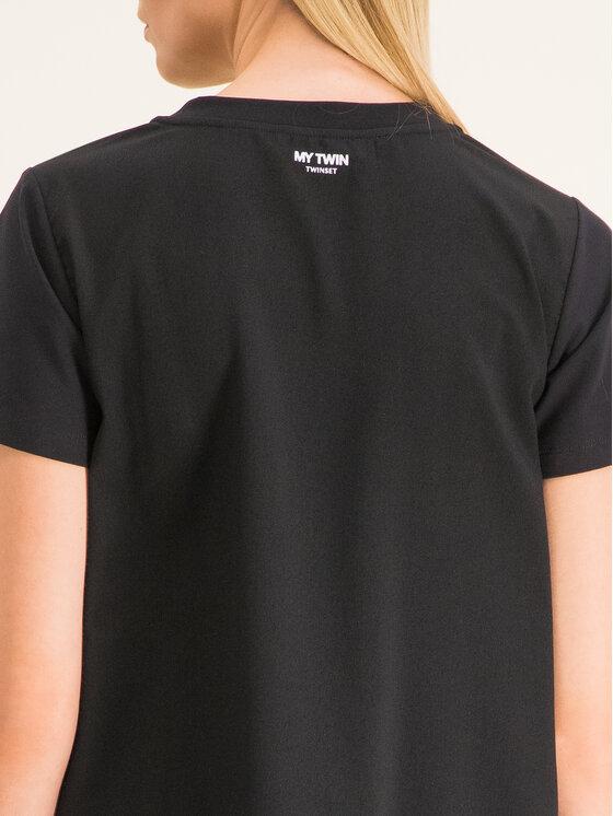 My Twin My Twin Marškinėliai 201MP2358 Juoda Regular Fit