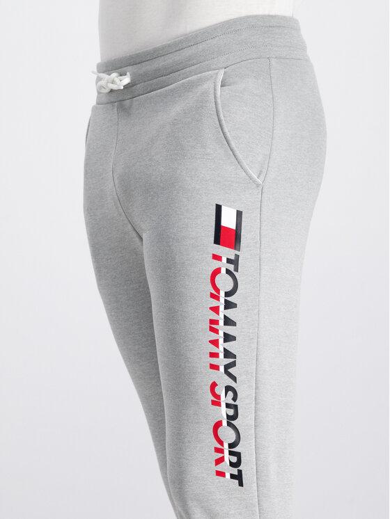 Tommy Sport Tommy Sport Pantaloni trening HBR Logo S20S200189 Gri Regular Fit