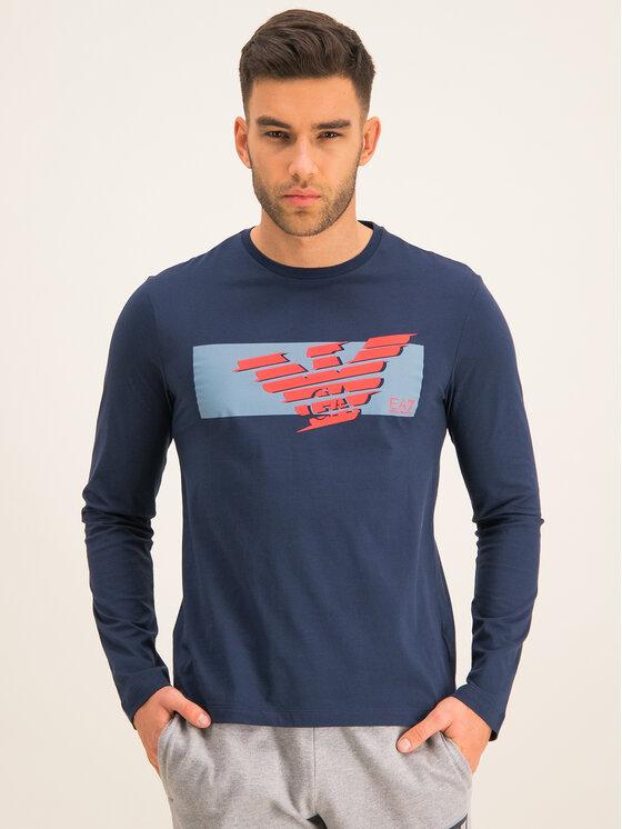 EA7 Emporio Armani EA7 Emporio Armani Тениска с дълъг ръкав 3HPT50 PJT3Z 1554 Тъмносин Regular Fit