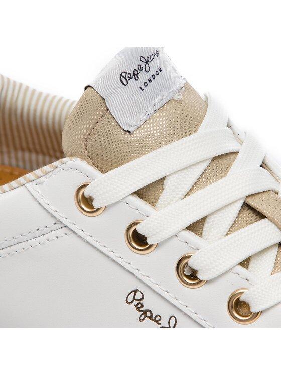Pepe Jeans Pepe Jeans Sneakersy Kioto Dotty PLS30847 Biały