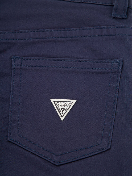 Guess Guess Παντελόνι υφασμάτινο N01B01 W7RQ0 Σκούρο μπλε Regular Fit
