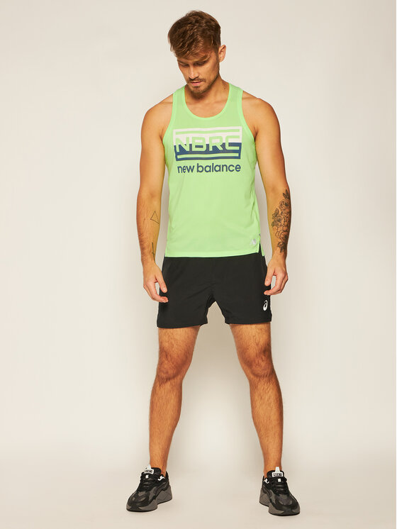 New Balance New Balance Koszulka techniczna Printed Impact Run MT01233 Zielony Athletic Fit