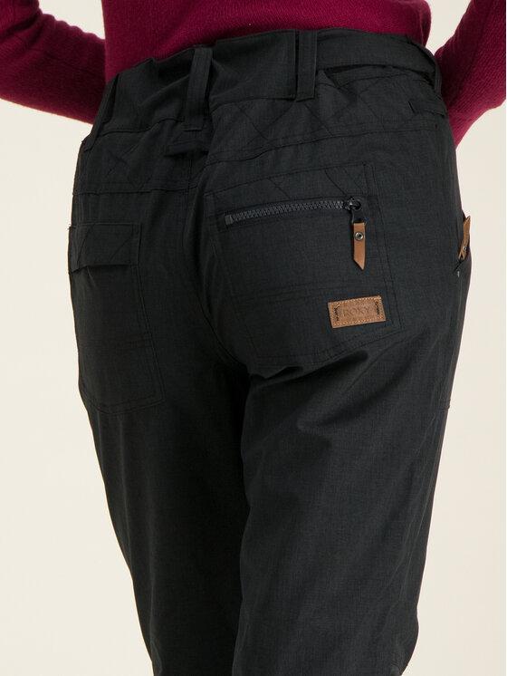 Roxy Roxy Lyžařské kalhoty Nadia ERJTP03087 Černá Tailored Fit
