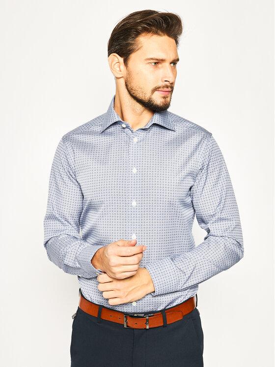 Eton Marškiniai 100000883 Tamsiai mėlyna Slim Fit